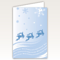 Reindeer Snowflakes High Quality Christmas Cards
