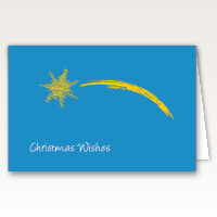 Eye Catching Shooting Star Christmas Cards