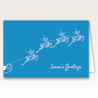 Snow Flakes Reindeer Christmas Cards
