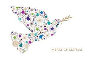 Magical Dove Christmas Card