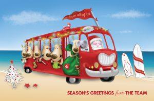 Santa's Team Christmas Card