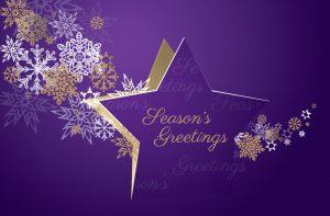 Twinkling Star Christmas Card