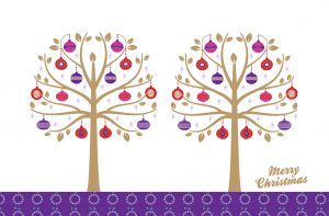 Sparkling Trees Christmas Card