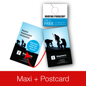 Door Hanger Maxi Postcard
