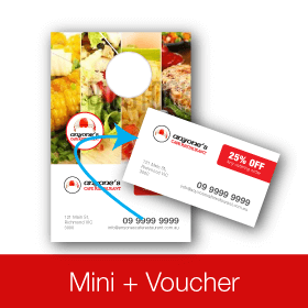 Mini Voucher for Doors Same Day Printing