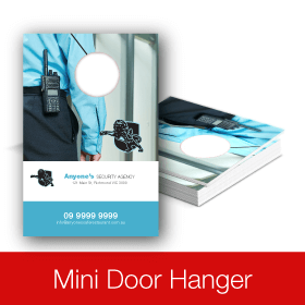 Eye-Catching Full color Mini Door Hanger