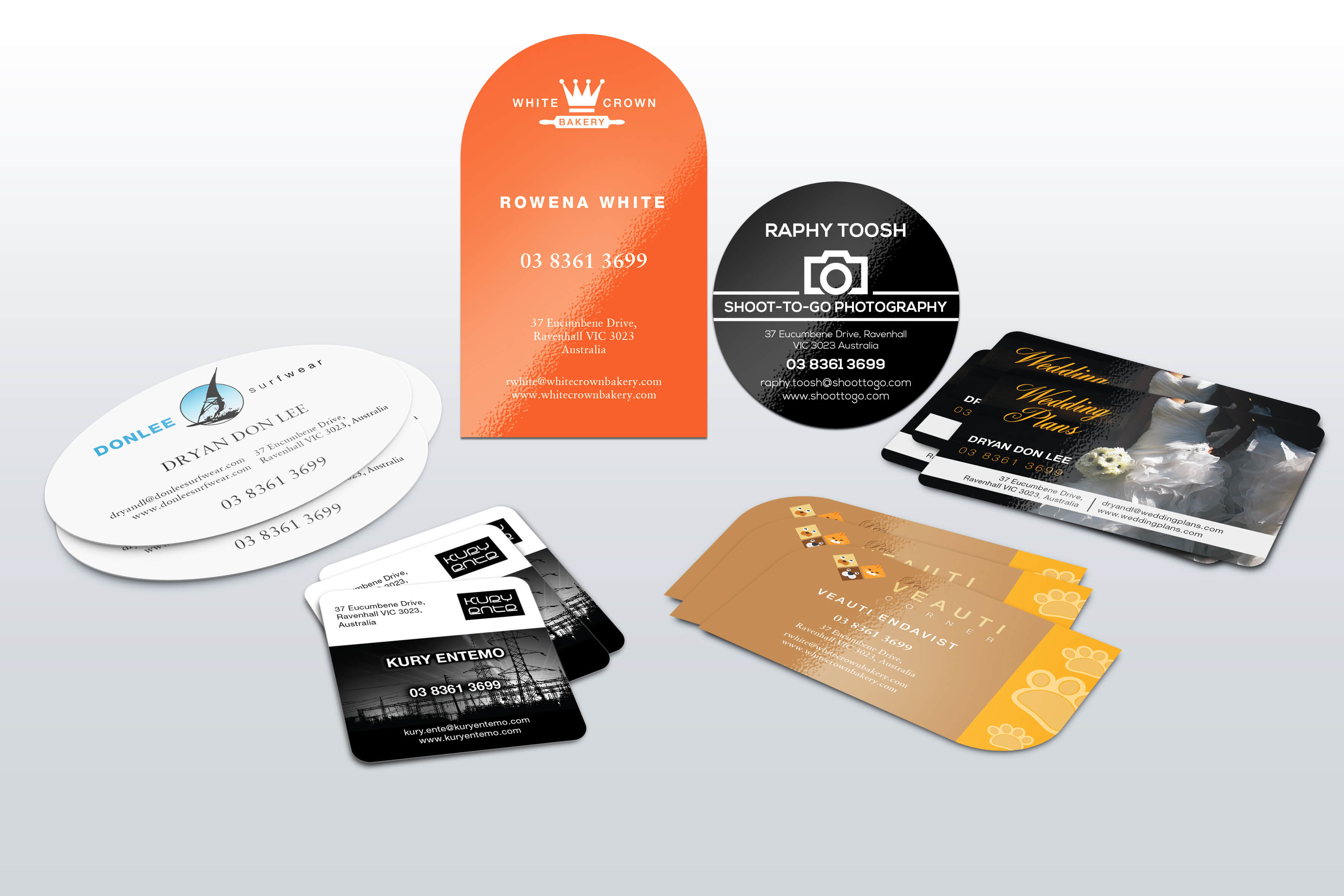 Business card all styles