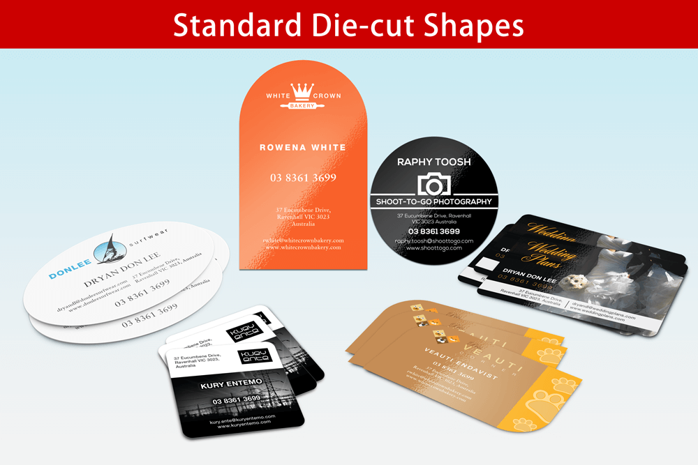 Standard Die-cut Shapes