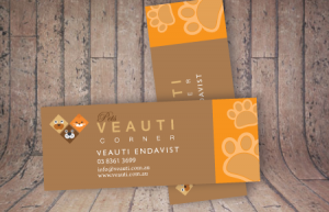 Custom trimmed business cards
