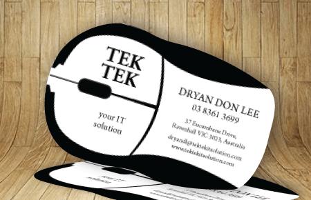 Super fast custom shaped die-cut business cards