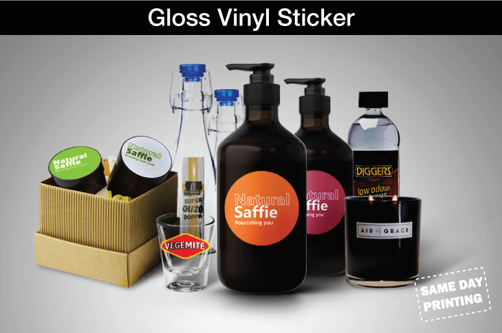 Same Day Gloss Vinyl Sticker Printing Promo Decals