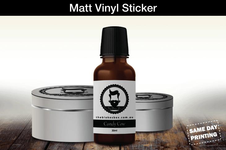 Matt Vinyl Sticker