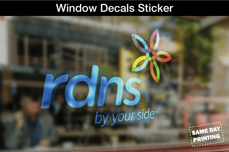 Window sticker and decal printing Melbourne