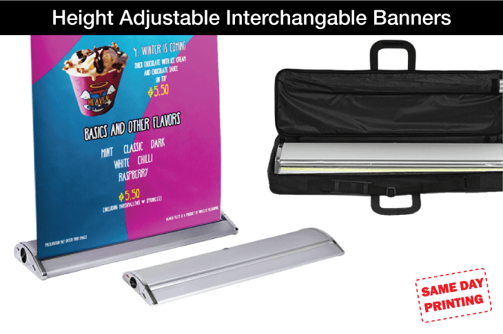 Height Adjustable Interchangable Banners