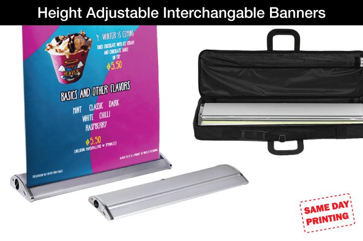 Height Adjustable Interchangable Banners