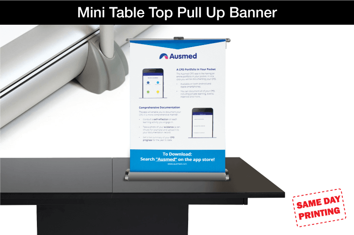 Mini Table Top Pull Up Banner