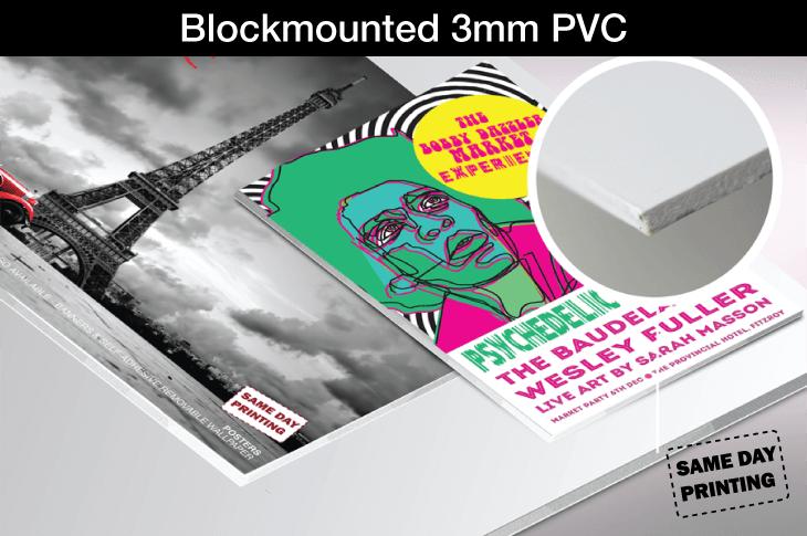 Blockmounted 3mm PVC