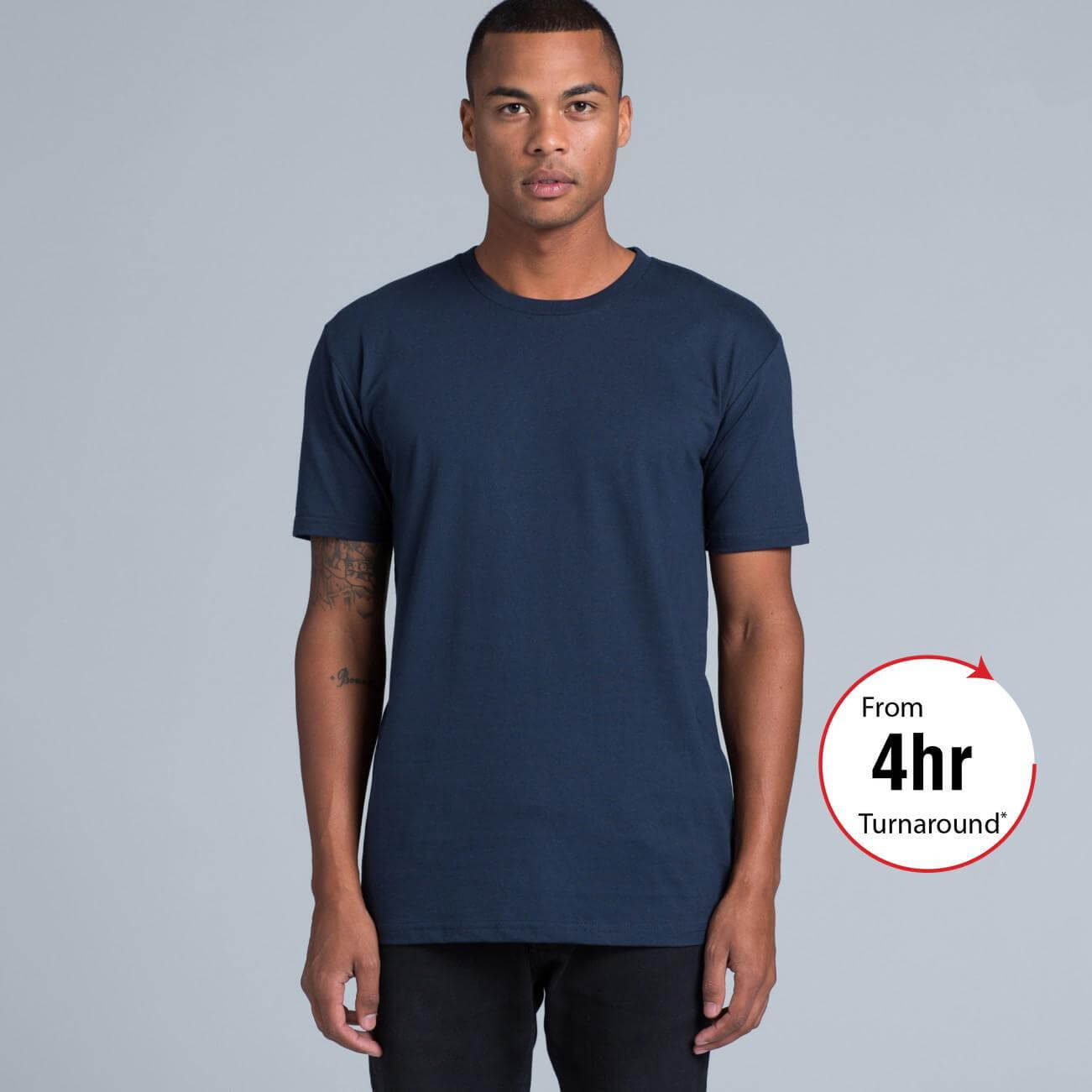 Mens staple t shirt as colour for Same day t shirt printing
