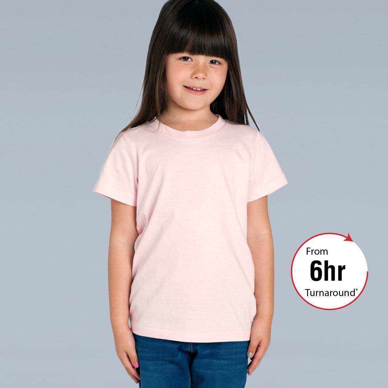 Kids sizes 2 6 t shirt as colour for Same day t shirt printing