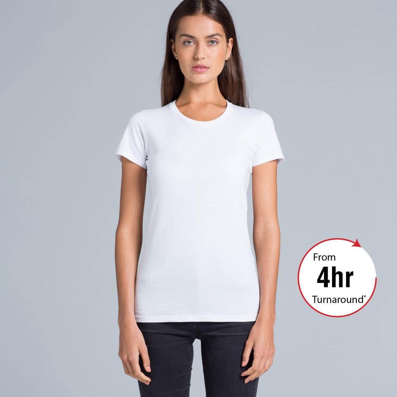 Ladies wafer t shirt as colour for Same day t shirt printing