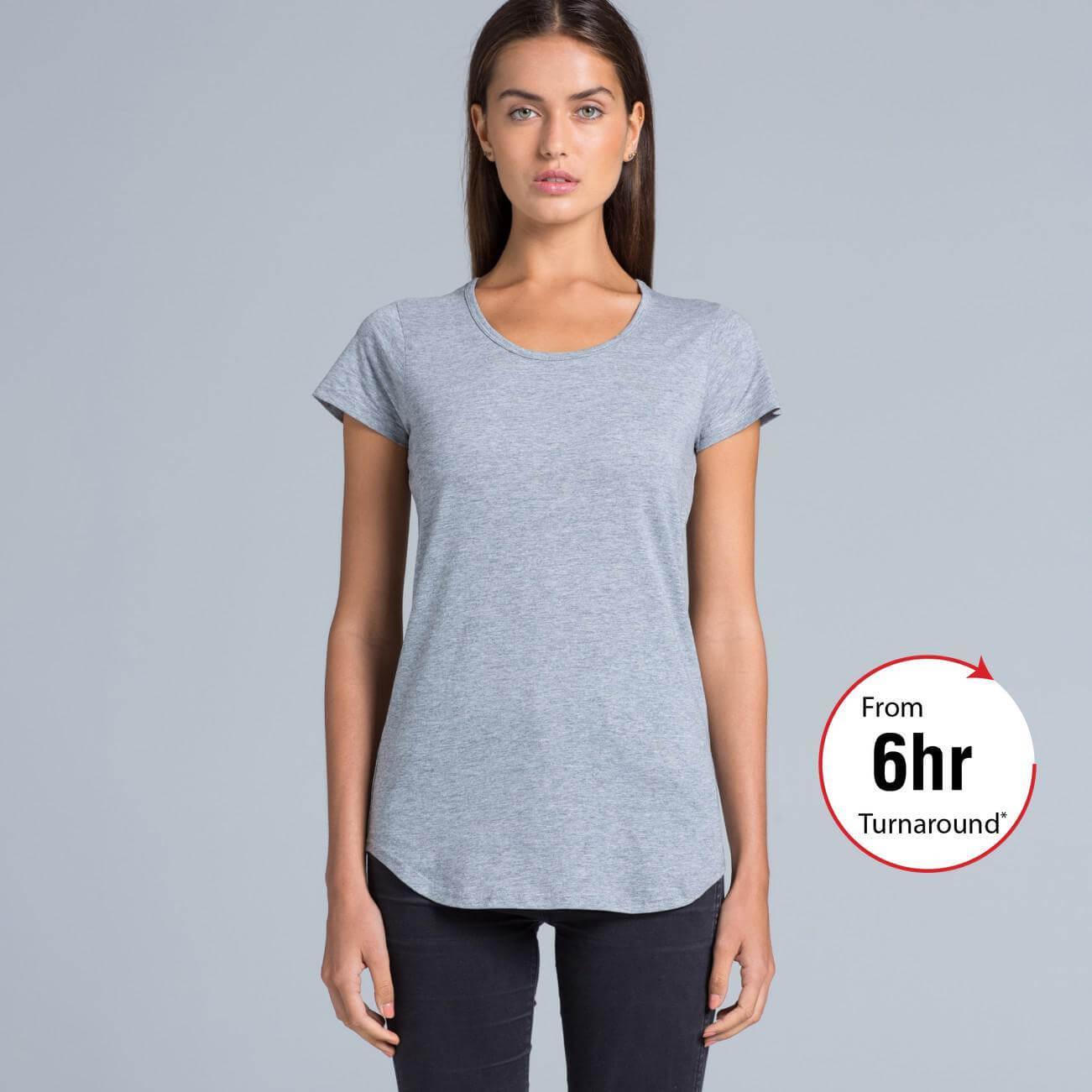 Ladies mali t shirt as colour for Same day t shirt printing
