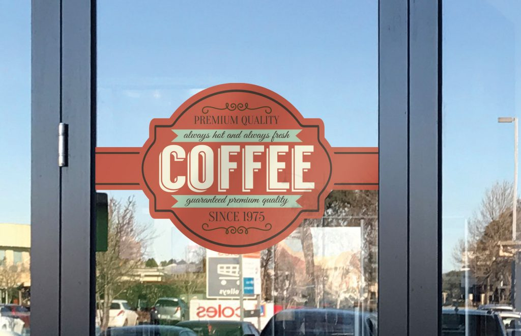 Opaque Window Super Cling Signage