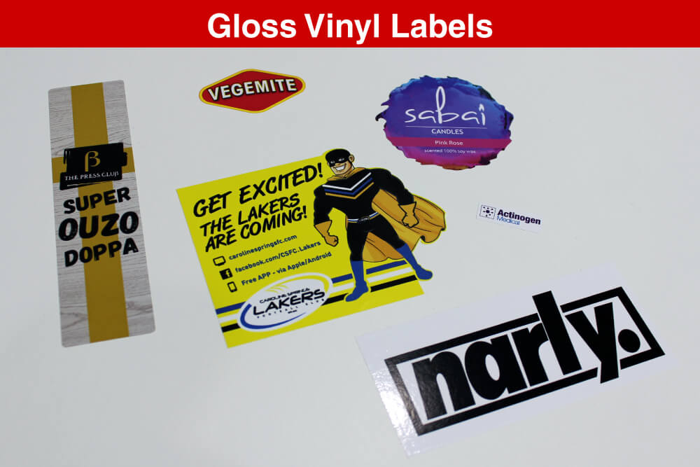 SDP Gloss Vinyl Labels