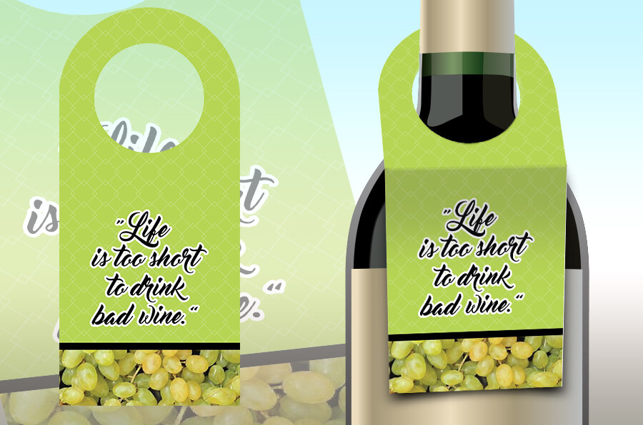 Elegant and Premium Bottle Neck Labels
