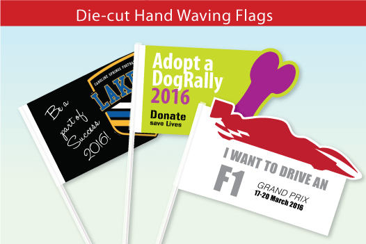 Die-cut Hand Waving Flags