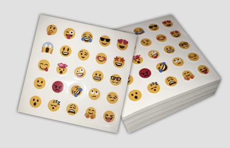 Same Day - Custom Die-Cut Emoji Stickers