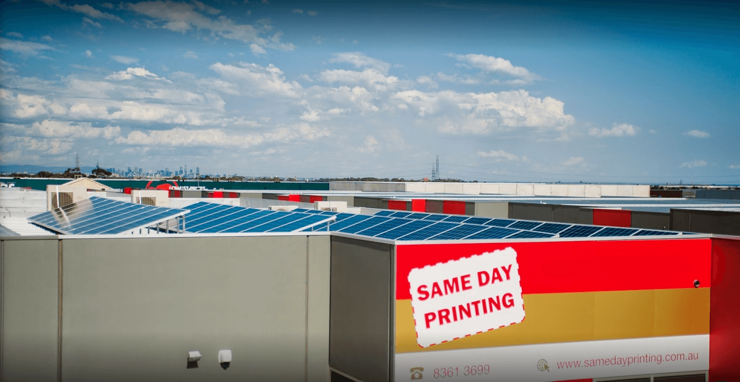 Same Day Printing with Solar Panels - Environment Friendly