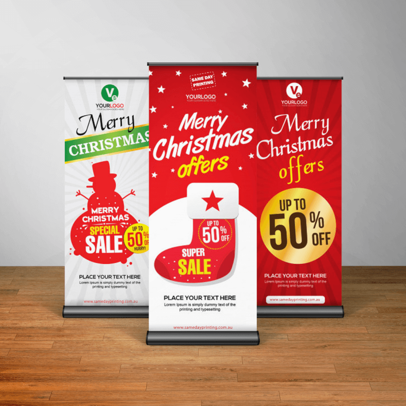 12 Days of Christmas Marketing Idea using Same Day Printing Roll Up banner