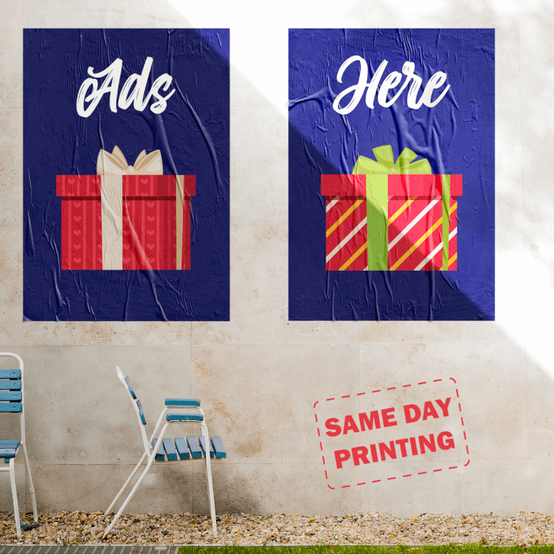 12 Days of Christmas Marketing Idea with Custom Same Day Printing of Posters
