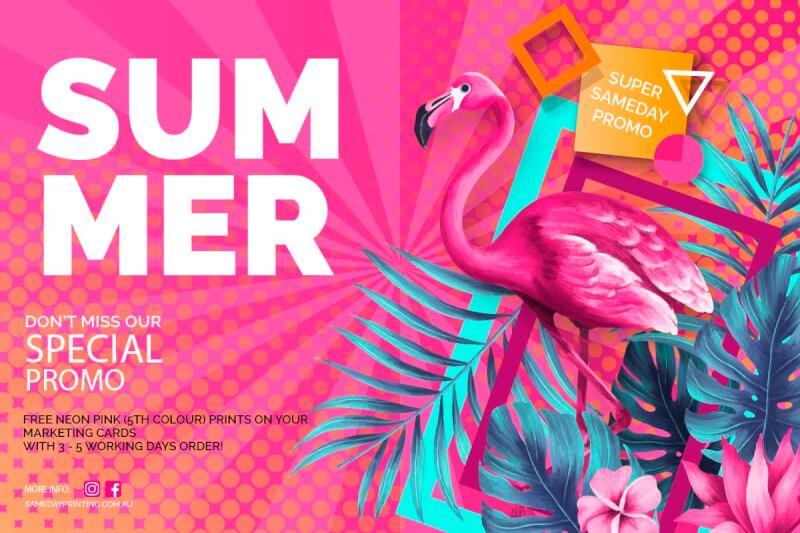 Free Neon Pink Prints Promo March 2020