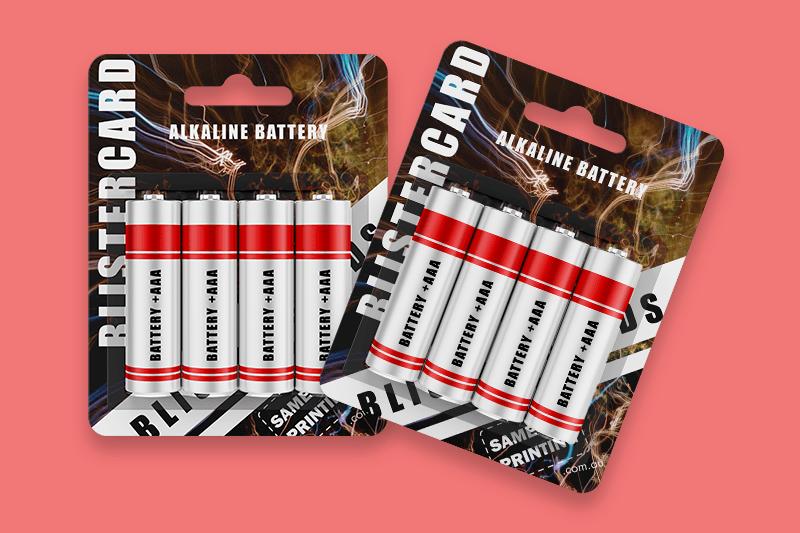 battery blister cards - sameday printing v3