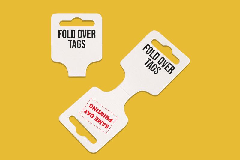 fold over tags - Custom Die Cut Same Day Printing