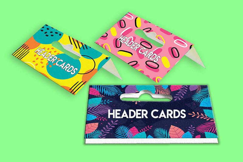 Header Cards Printing - Sameday Printing