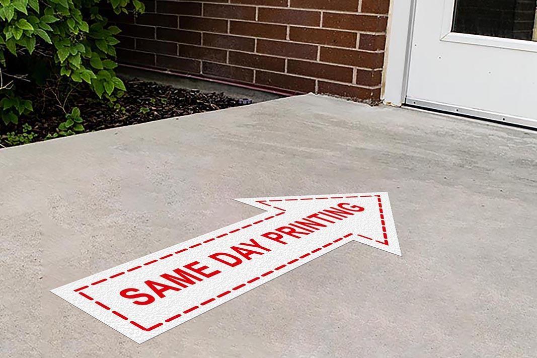 Same Day Printing Floor Sticker - Arrow for Concrete