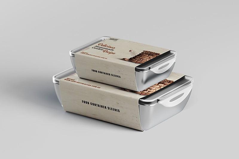 Cookies Food Container Slevees Printing