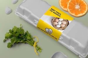 Organic Egg Boxes Sleeves - Custom Designs and Printing