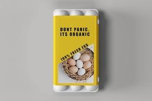 Organic Egg Packaging Sleeves - Custom Printed