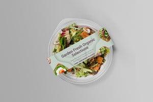 Vegetables Salad Food Container Sleeves - Printing