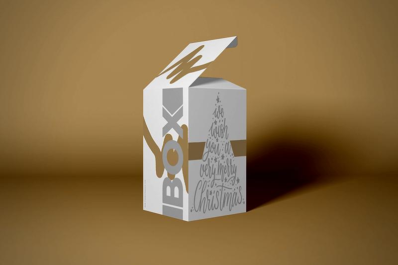 Custom Printed Box on Christmas theme - Same Day Printing