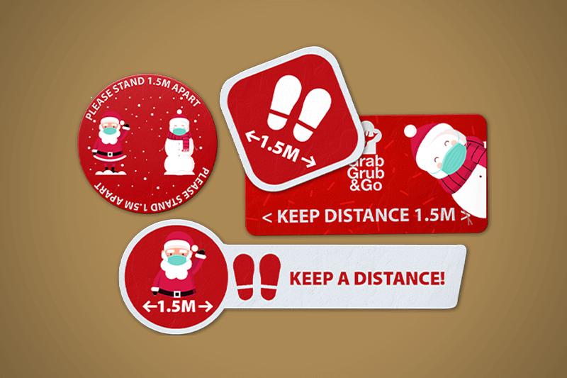 Floor Stickers on Christmas theme 2 - Same Day Printing