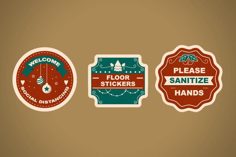 Floor Stickers on Christmas theme - Same Day Printing