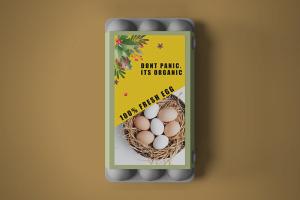 Food Container Sleeves Egg Christmas theme - Same Day Printing