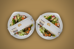 Food Container Sleeves VeggiesChristmas theme - Same Day Printing
