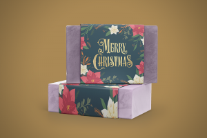 Soap Sleeves or Belly Bands Christmas theme - Same Day Printing
