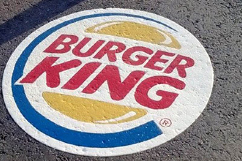 ALUTEX AT13 Heavy Textured - Burger King floor Stickers
