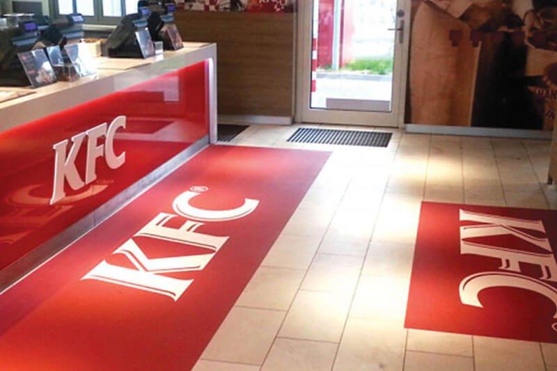 ALUTEX AT13 Heavy Textured - KFC floor Stickers